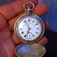 EDWARD PRIOR ottoman/turkish silver pocket watch working condition,serviced