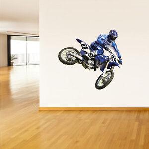 Details About Dirt Bike Wall Decal Sticker Motocross Motorcycle Wall Decor Art Moto Col355