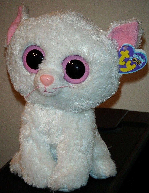 Ty Beanie Beanie Beanie Boos - CASHMERE the White Cat (9 Inch  Medium Size Buddy Plush) MWMT dd293a