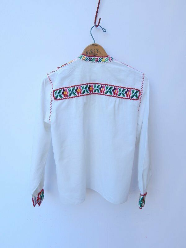 VINTAGE 50's/60's HUNGARIAN TOP~Needlepoint Embro… - image 4