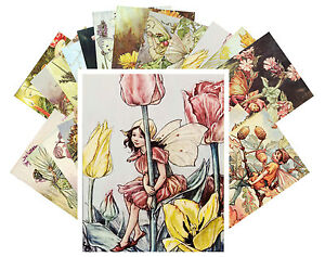 Postcards-Pack-24-cards-Cecile-Barker-Flower-Fairy-Pixies-Vintage-Book-CC1006
