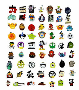 Disney-Pin-Trading-25-Boy-Assorted-Pin-Lot-NEW-Pins-No-Doubles-Tradeable