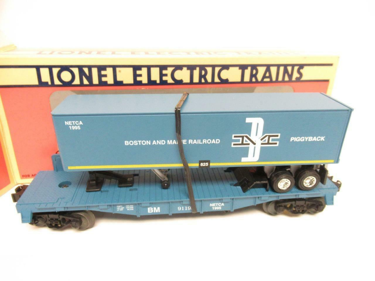 LIONEL LTD. PROD.- 52080- BOSTON- OCH MAINE FLAT W TjärnvägER - 1995 NETCA - M33