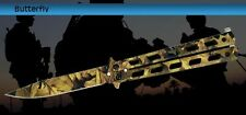Deceit Leaf Camouflage Balisong Butterfly Knife - Camo Plain