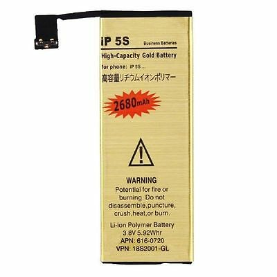 3.7V Gold High-Capacity Replacement Internal Battery for iPhone 5S 5C + Tool Set