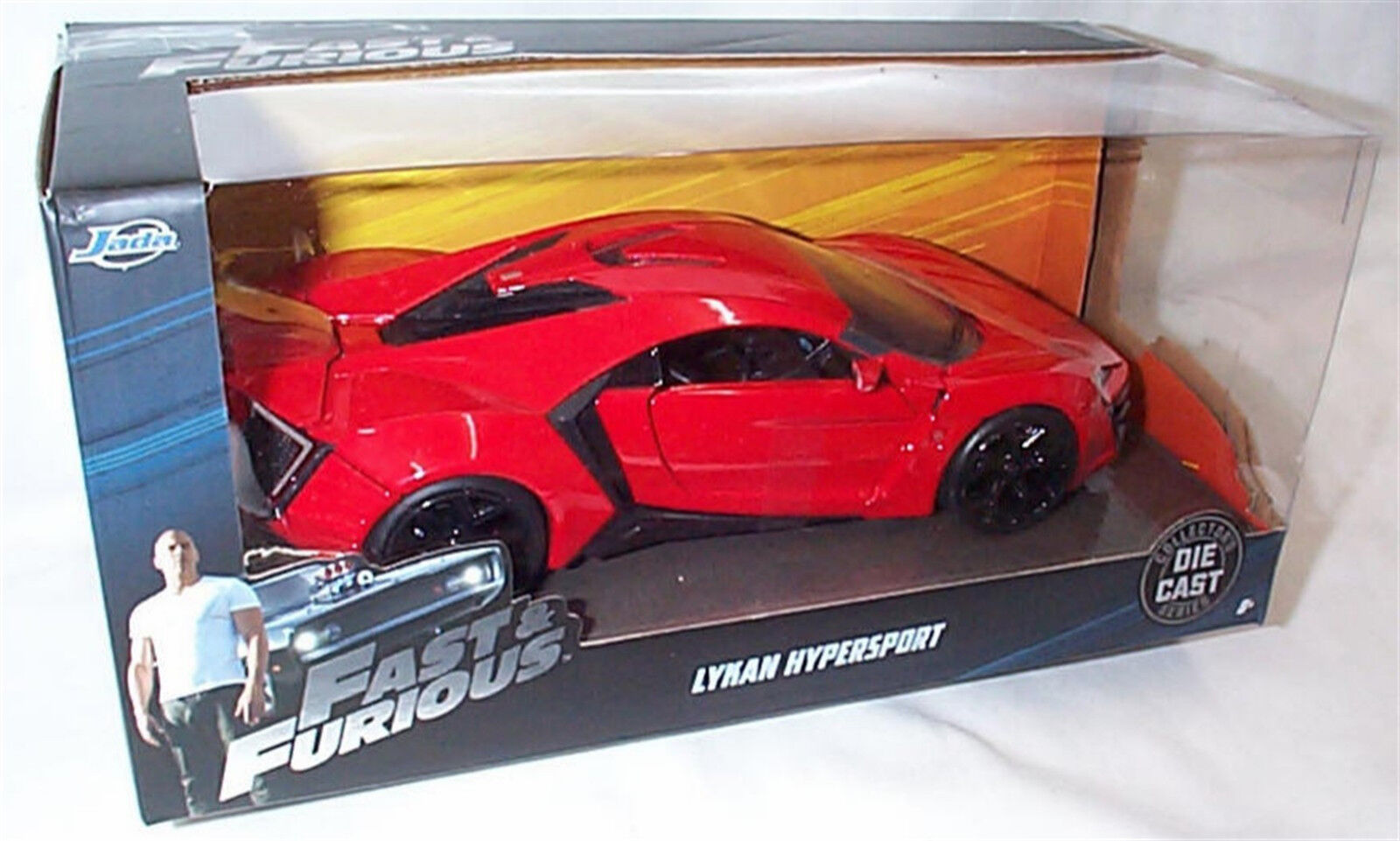 FAST & FURIOUS LYKAN hYPERSPORT 1 24 SCALE DIECAST OPENING FEATURES NEW IN BOX