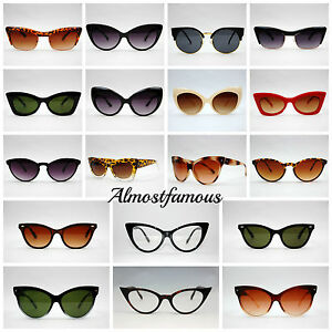 76961aac43 VTG 50s 60s Style womens Cat Eye Sunglasses Retro Rockabilly Glasses ...