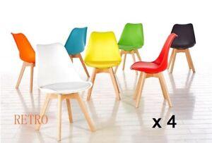 4-X-Retro-TULIPE-STYLE-Chaise-de-salle-a-manger-designer-Eiffel-Cafe