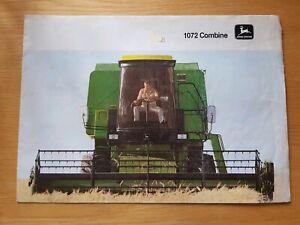 TempéRé John Deere 1072 Combiner Sales Brochure-afficher Le Titre D'origine