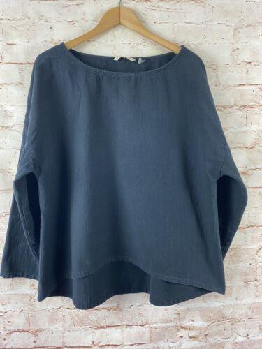 Soft Surroundings Womens Black Gauze Pullover Size