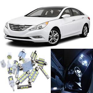 9pcs White Interior Led Light Package Kit For Hyundai Sonata 2011 2014 Ebay