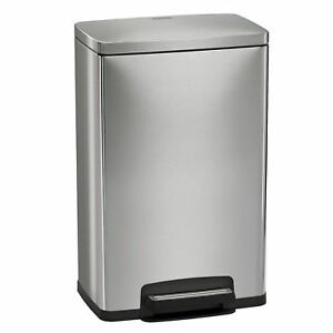 Tramontina 13 Gallon Step Trash Can Stainless Steel Includes 2 Freshener