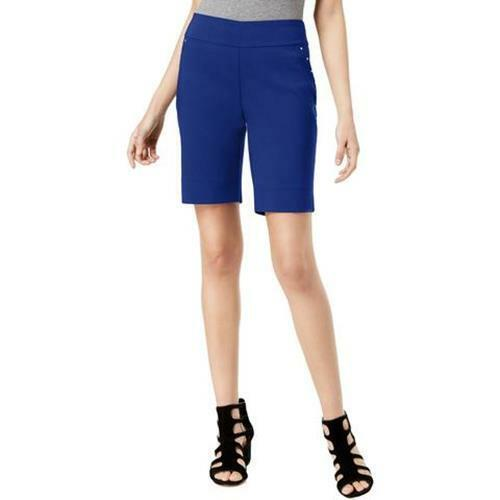 INC Shorts Bermuda Blue Studded Pull On Women Sz 8 NEW NWT 339