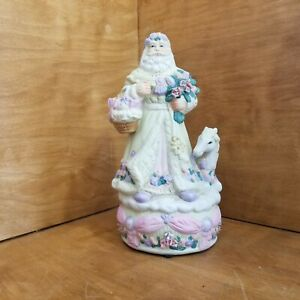 Victorian Santa and horse Musical  Box Porcelain 11in.