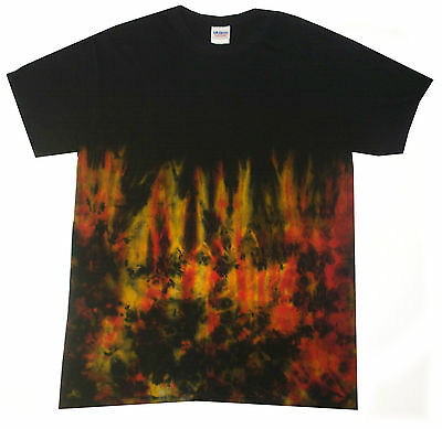 all sizes Halloween Tie Dye Fire Effect Hand dyed in the UK