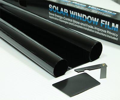 ULTRA LIMO BLACK 1% CAR WINDOW TINT 6M x 75CM FILM TINTING + KIT