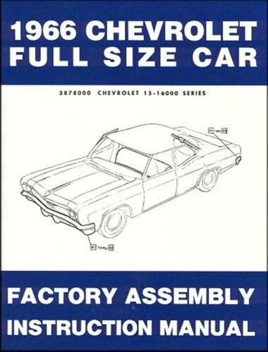1966 Chevrolet Full-Size Car Factory Assembly Instruction Manual