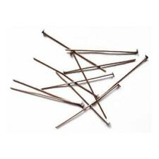 Golden Plated Iron Flat Head Pins 0.7 x 70mm HA11820 Packet 125