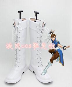 Street Fighter Chun Li Cosplay Boots Custom Made Any Size