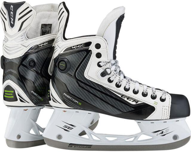 NEW IN BOX 2017 CCM Ribcor 44K White JR Size 2.5D Ice Hockey Skates IN STORE NOW