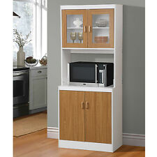 Tall Cart Microwave Cabinet Kitchen Stand Storage Organizer Pantry Cupboard