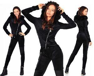 Sexy nero donna Tuta Velluto 268 E da New Jogging TqWyfRTr