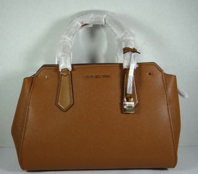 01d21aa2b1 Michael Kors Hayes 35F8GYES3T LG Leather Satchel Bag Mulberry ballet ...
