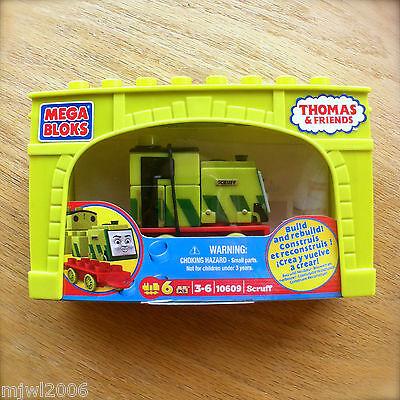 MEGA BLOKS Thomas & Friends SCRUFF and BRIDGE 10609 6 pcs FITS WOOD TRAIN TRACKS
