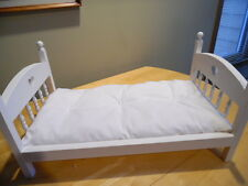 "White 18"" Doll Bed ""Mattress Only"" made for American Girl Our Generation Dolls"