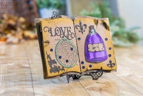Magic Book Best Wishes Metal Cutting Dies Album DIY Craft Embossing Stencil
