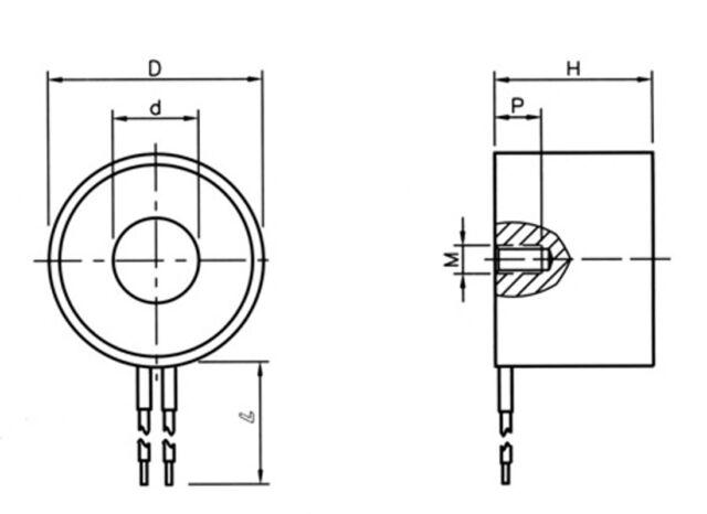 US Stock 176LB 80kg Lifting Magnet Electromagnet Solenoid Lift Holding 65mm 12V
