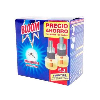 Bloom Insecticida Mosquitos Eléctrico 2 Recambios de 45 Noches