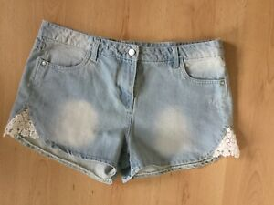 Summer Rise Holiday Denim Nuovo Shorts High Pool 14 Ladies Hotpants Crochet w7qfAnI