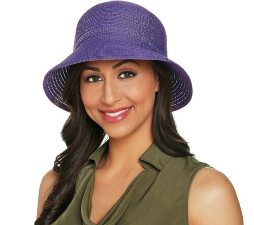 Physician Endorsed Adjustable Daisy Sunhat Packable Purple New