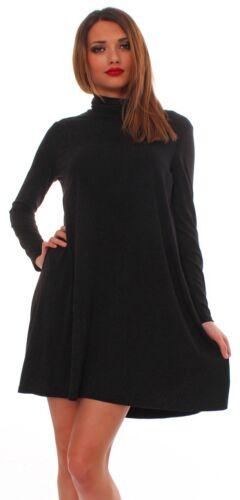 Mississhop Tunika Minikleid Longshirt mit Rollkragen 36 38 40 42 44