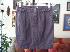 Daughters of the Liberation sz 10 Anthropologie Plum Cargo Skirt NWT $78