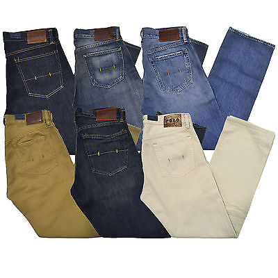 Polo Ralph Lauren Mens Jeans 867 Classic Fit Denim Leather Patch New Nwt 30 31 Ebay