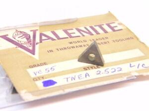 NEW-SURPLUS-6PCS-VALENITE-TNEA-2-522-L-C-GRADE-VC55-CARBIDE-INSERTS