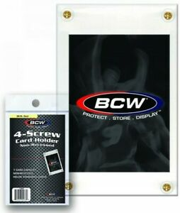 BCW-20pt-4-Screw-Non-Recessed-Trading-Card-Holder-Qty-180