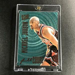 MICHAEL-JORDAN-1996-FLEER-ULTRA-1-FULL-COURT-TRAP-FOIL-INSERT-CHICAGO-BULLS-MJ