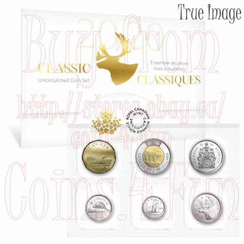 2020 Canada Classic Canadian Uncirculated 6-coin Set $2 $1 50c 25c 10c 5c