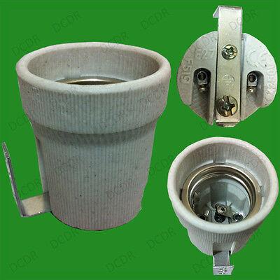 Socket bulb holder & fixing bracket for heat lamps Edison screw E27 ES ceramic