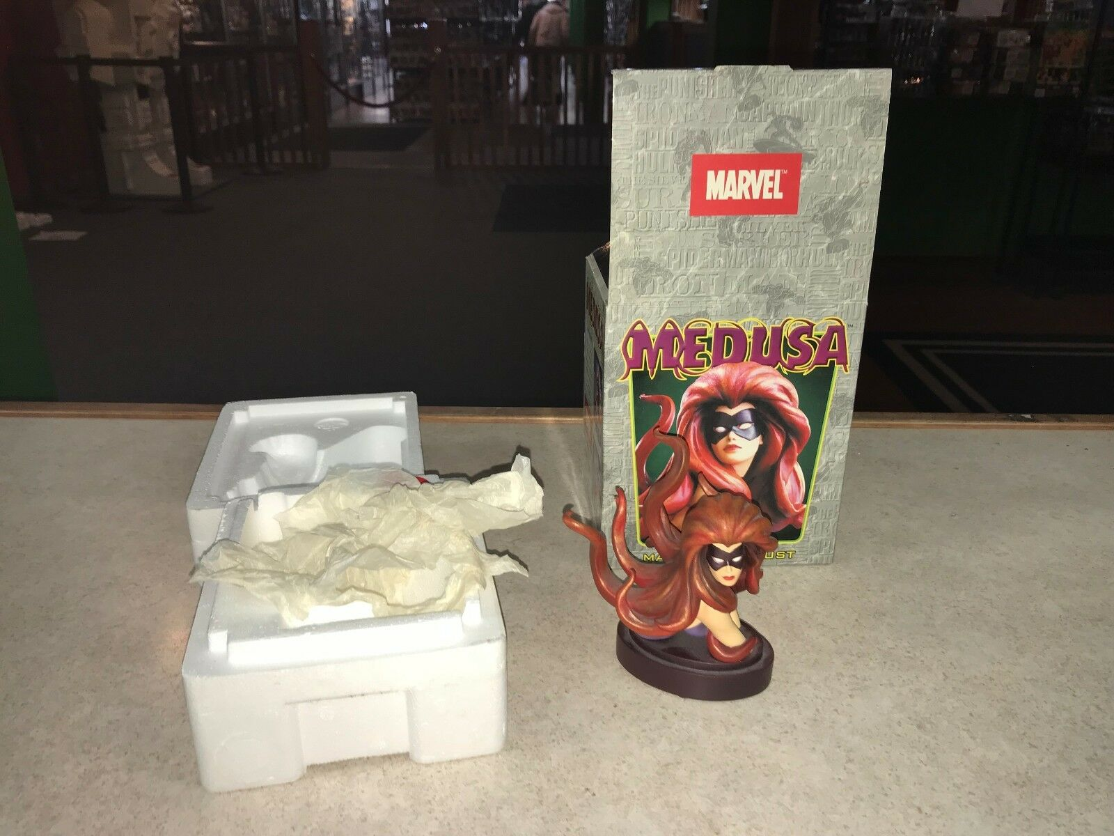 2003 Bowen Marvel Comics Resin Statue Bust 5  MEDUSA 1338 of 5000