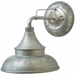 Hampton Bay Galvanized Outdoor Barn Light Wall Mount Sconce