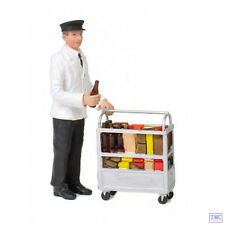22-185 Scencraft G Scale Lineside Models Service Person with Minibar