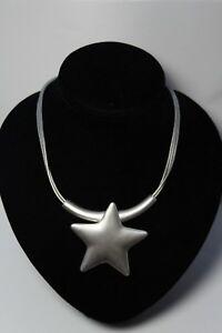 Modeschmuck Kette Collier Halskette Grau Silber Strass Leder Herz Halsreif