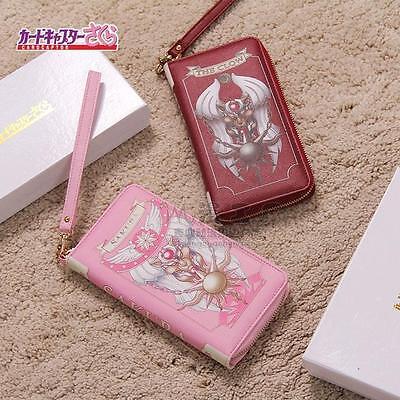 Cardcaptor Sakura Magic Book Pattern Pu Wallet Purse Bag Handbag Cute With Box