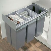 Pull Out Waste/recycling 300mm Units 30 Litres Softclose Grey