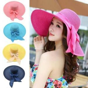 Women-Wide-Large-Brim-Floppy-Summer-Beach-Sun-Hat-Straw-Cap-with-Big-Bow-Cool