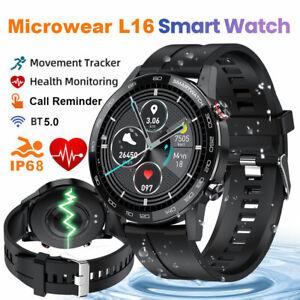 Microwear L16 Smart Watch Waterproof ECG Blood Pressure Oxygen Monitor for Phone